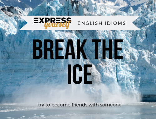 English idioms – break the ice