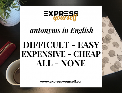 Antonyms in English – collection of antonyms part  5