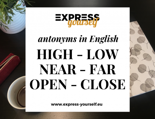 Antonyms in English – collection of antonyms part  1