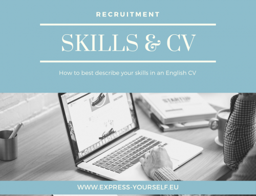 How to best describe your skills in an English CV?